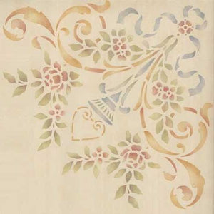 Classic Ceiling and Furniture Stencils - Rose and Floral Corner Stencils - Royal Design Studio