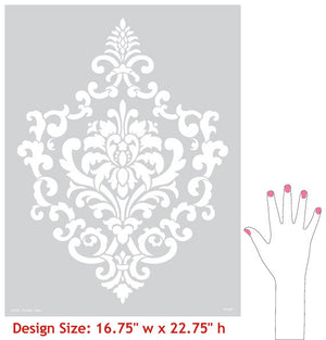 Decorative and Ornamental Cartouche Wall Stencils for Painting Classic Designs - Royal Design Studio