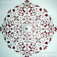 Arabesque Ceiling Medallion Stencil