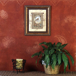 Decorate your home with Indian design - Exotic Paisley Pattern wall art stencils - Royal Design Studio