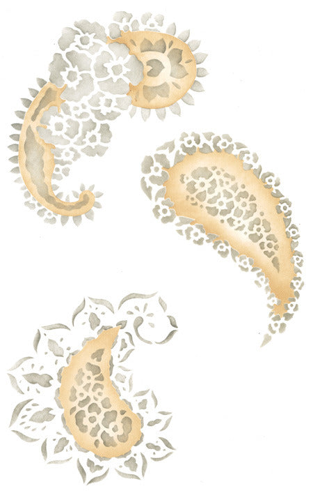 Paisley wall art stencils for DIY pattern and home decor