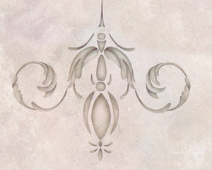 Palazzo Scroll Ceiling Stencils