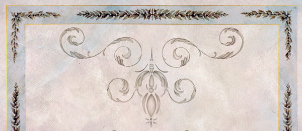 Palazzo Scroll Ceiling pattern stencils