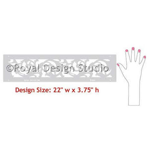 Palermo Scroll Border Stencil design
