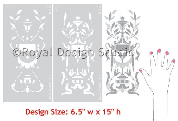 Stencils patterns Parisian Swag Panel Theorem Classic