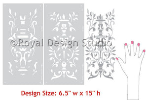 pattern Stencils Parisian Urn Panel Theorem Classic