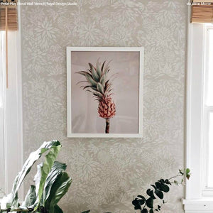Petal Play Floral Damask Wall Stencil