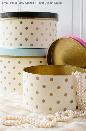 Small Polka Party Stencil for Furniture By Royal Design Studio