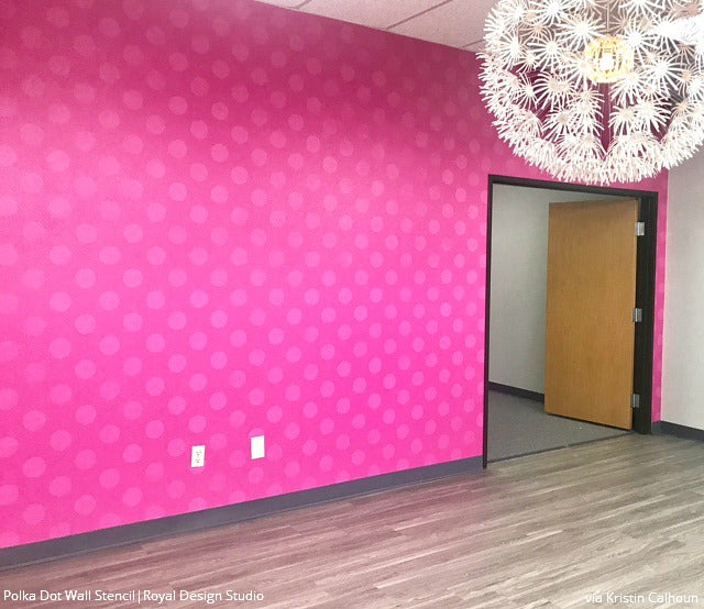 Polka Party Wall Stencil