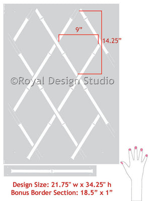Decorating with Asian Decor and Oriental Designs - Bamboo Wall Stencils