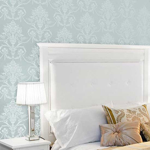 Vase & Pearls Allover Classic and Vinctorian Wall Stencil Designs - Royal Design Studio