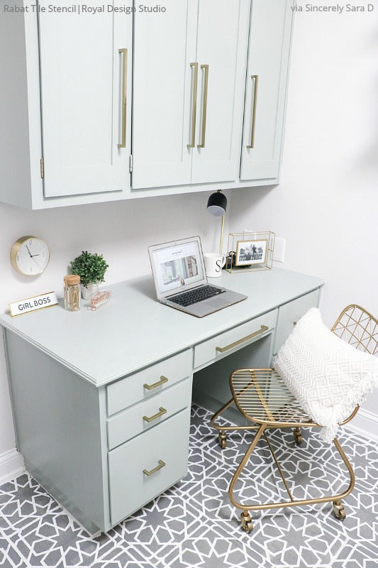 Laundry Room Accent Wall Stencil