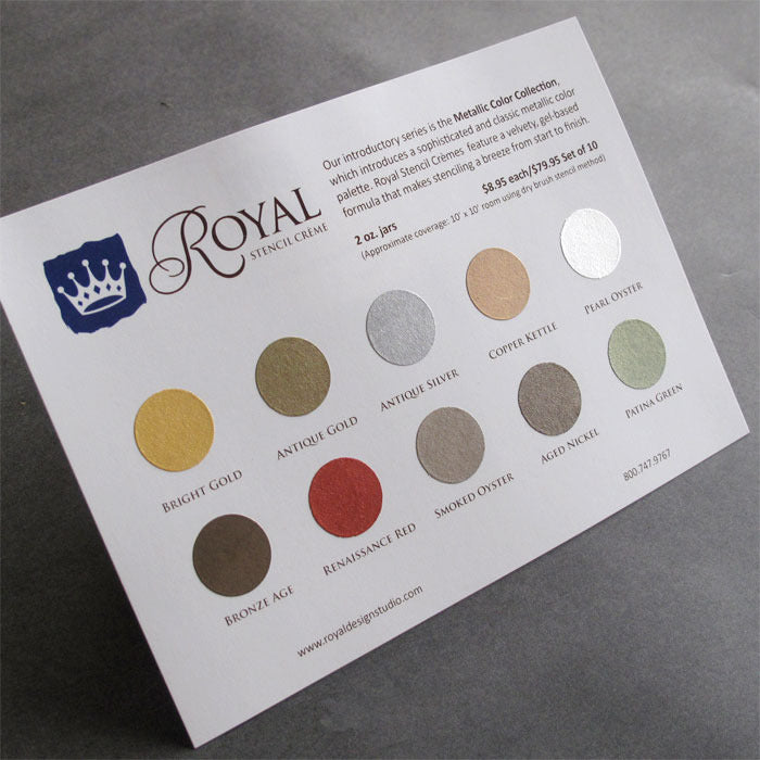 stencil paint color chart