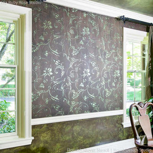 Classic Vine Wall Stencils for Painting Traditional Home Decor