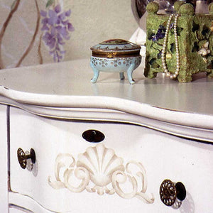 Classic Shell Furniture Panel Stencils - Royal Design Studio