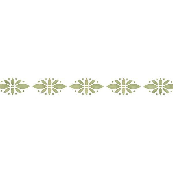 Simple Floral Border Wall Stencils
