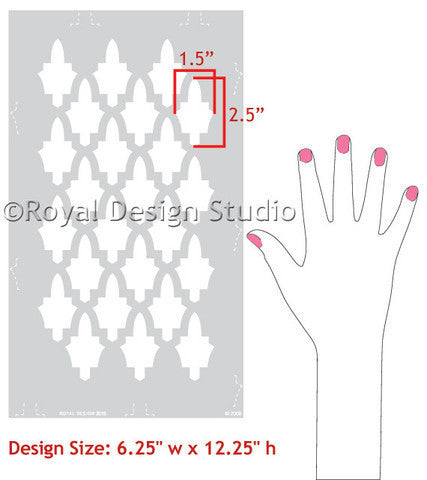 Moroccan Stencils for Painted Furniture Projects - Royal Design Studio