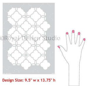 Colorful and Patterned Home Decor Ideas using Eastern Lattice Moroccan Stencils - Wall Stencils by Royal Design Studio