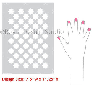 Painting Walls with Moroccan Stencils Eight Pointed Stars Wall Stencils - Royal Design Studio