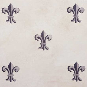 Small Fleur de Lis Furniture Stencil