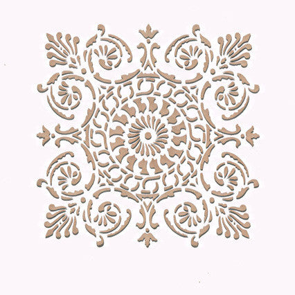 Wall stencil small palermo tile stencil royal design Italian designs