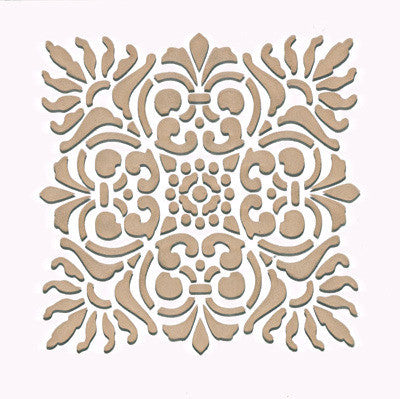 Italian Sicilia Tile Wall Stencils - Royal Design Studio