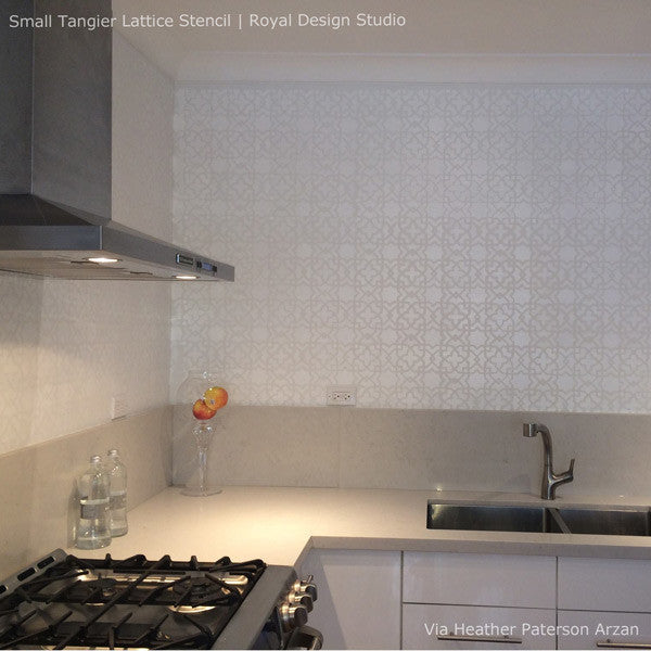 Tangier Lattice Furniture Stencil - Royal Design Studio Exotic Moroccan Stencils