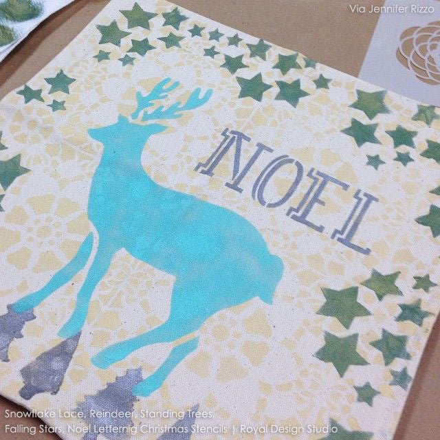 Noel Christmas Holiday Typography Craft Stencils - Royal Design Studio