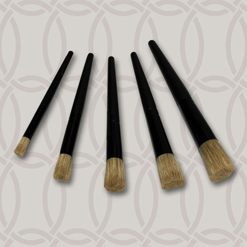 Set of 5 Stencil Brushes