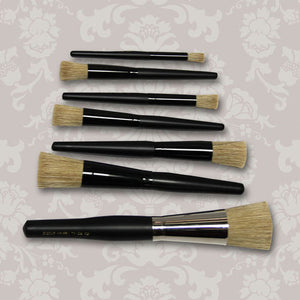 Set of 7 Stencil Brushes
