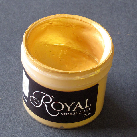 Stencil Paint Stencil Creme Bright Gold Royal Design