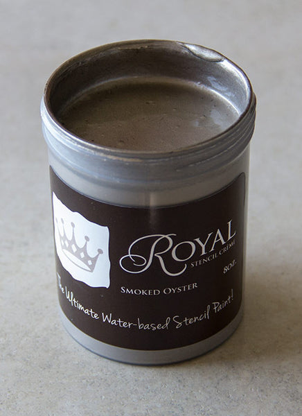 Stencil Paint Stencil Creme Smoked Oyster Royal Design