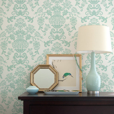stencil patterns encantada damask wall stencil - Design Stencils For Walls