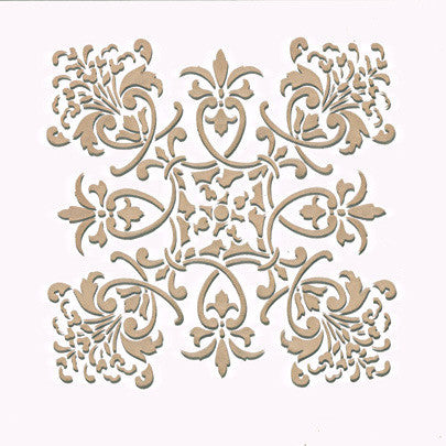 Wall Stencil Small Florence Tile Royal Design