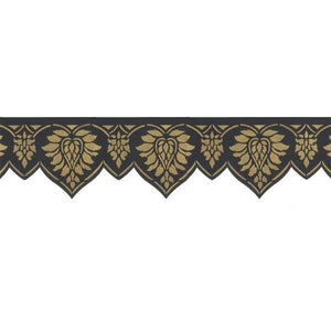 Oriental Brocade Wall Stencils Frieze design
