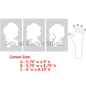 DIY Nursery Decor using Cameo Silhouette Wall Stencils