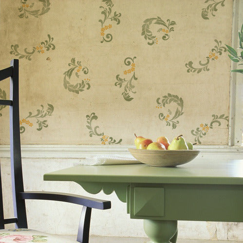 Stenciling Walls with Stenciled Patterns - Florentine Scrolls Classic European Deigns - Royal Design Studio