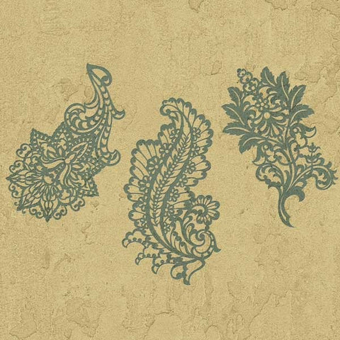 Paisley Stencils Large Paisley Stencil Set Royal