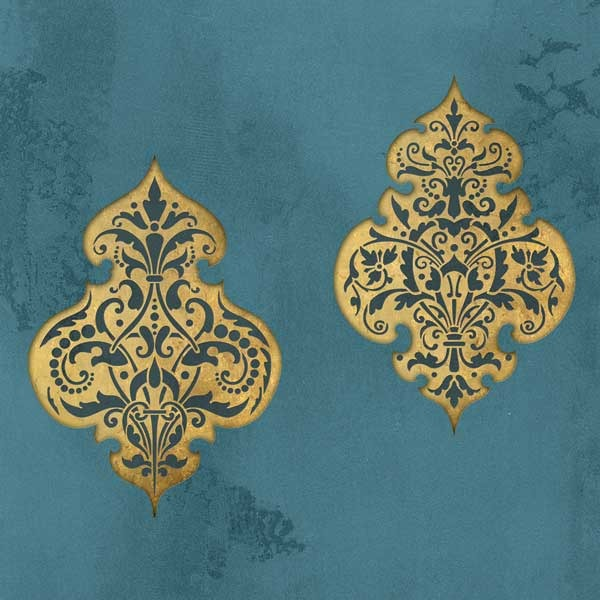 Turkish and Middle Eastern Flower Wall Art Stencil for Exotic Home Decor - Royal Design Studio ...  sc 1 st  Royal Design Studio & Wall Stencil | Turkish Emblem Stencil Impression Set | Royal Design ...