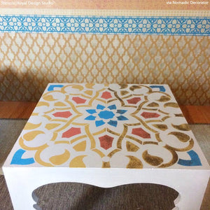 Moroccan Arches Furniture Stencil