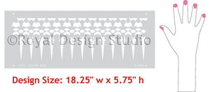 Tray Border Moroccan Stencils designs
