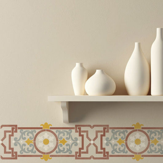Classic European and Spanish Border Stencils and Wall Stencils