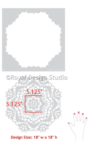 Decorating with Lace Doily Pattern Wall Stencils for Painting Wall Art - Royal Design Studio