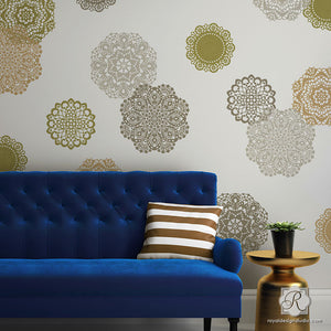 Lace Doily Wall Stencil Set