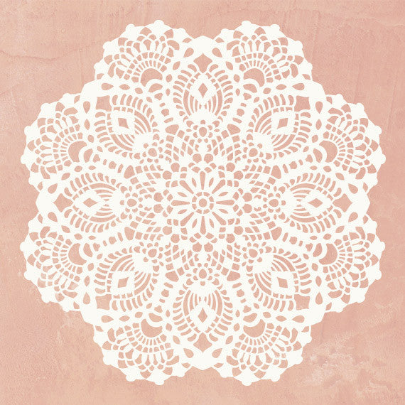 Lace Wall Art Holiday Craft Stencils Diy Christmas Home Decor