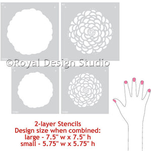 Painting Floral Designs on Walls - Baby Nursery Decor or Little Girls Bedroom Decor - Painted Flowers on Walls - Floral Wall Art Stencils from Royal Design Studio