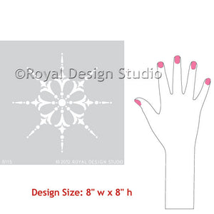 Wall Art Stargazer Medallion Stencil - Royal Design Studio Stencil  - www.royaldesignstudio.com