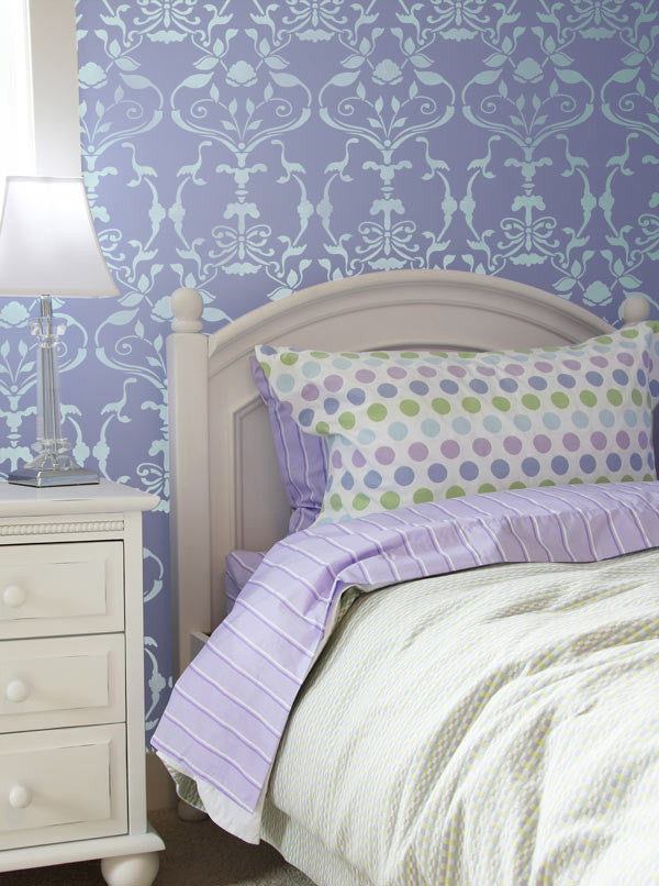Wallpaper Wall Stencils for Victorian Design and Girls Room Decor - Royal Design Studio