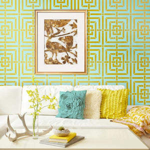 Mykonos Trellis Wall Stencils - Modern and Geometric Patterns and Home Decor - Royal Design Studio