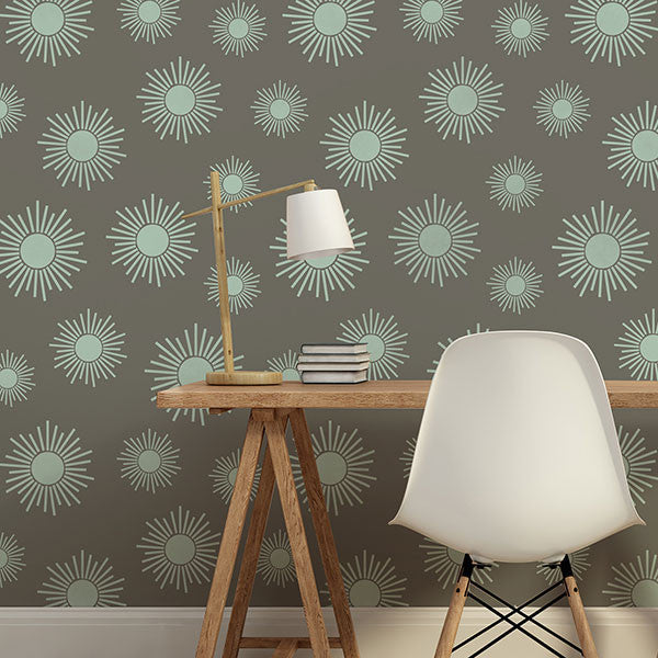 African Design Tribal Pattern - Sunburst Stars Wall Stencils for Painting - Royal Design Studio